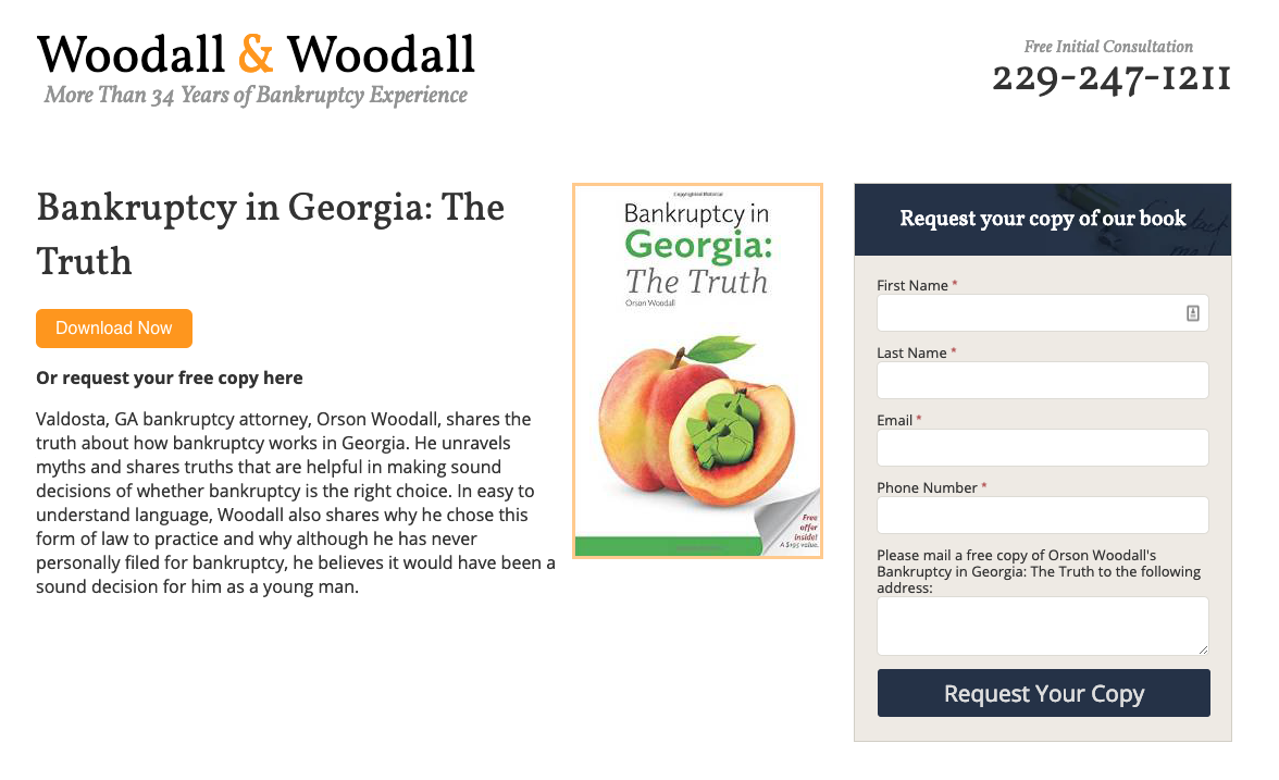 Woodall & Woodall Bankruptcy in Georgia book